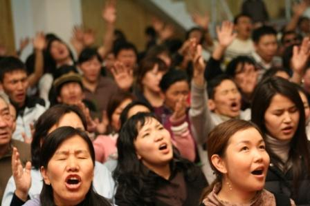 Worship in Ulaanbataar - March, 2008