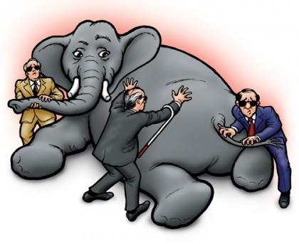 the blind men and the elephant Viva strategy plan boldly execute  the blind men and the elephant: analogies for  it to the story of the blind men and the elephant in the tale, six blind.